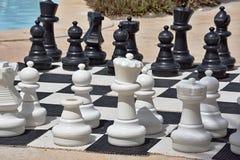 Большой шахмат для игры на пляже Стоковое Изображение