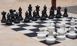 Большой шахмат для игры на пляже Стоковые Фото