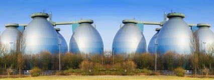 Большой лэндфилл-газ производственной установки Стоковые Фотографии RF
