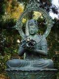 Большой японец Будда сделанный из металла Стоковое Изображение