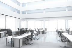 Большой, яркий современный офис Стоковое Фото