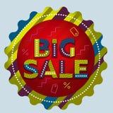 Большой ярлык круга продажи Круглое знамя продажи рекламировать Стоковая Фотография