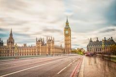 Большой ben, долгая выдержка, Лондон Великобритания Стоковые Изображения