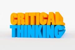 Большой 3D смелейший текст - критический думать Стоковые Изображения