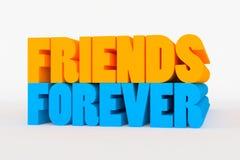 Большой 3D смелейший текст - друзья навсегда Стоковые Фотографии RF