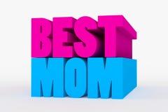 Большой 3D смелейший текст - самая лучшая мама Стоковая Фотография RF