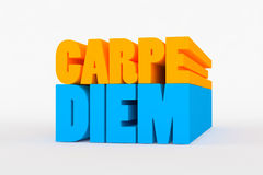 Большой 3D смелейший текст - diem carpe Стоковые Фотографии RF