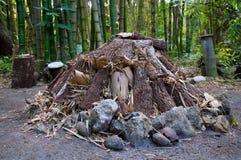 Большой unlit огонь лагеря Стоковая Фотография RF
