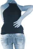 Боль в задней части женщины Стоковая Фотография