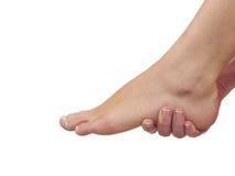 Боль в ноге Резвит травма Стоковая Фотография RF