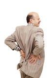 Боль в позвоночнике или почке Стоковые Изображения RF