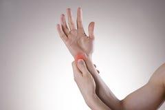 Боль в соединениях рук Стоковые Изображения RF
