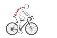 Боль в спине велосипедиста иллюстрация штока