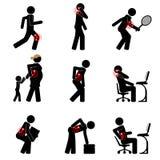 Боль в спине и другие проблемы соединений общего бесплатная иллюстрация