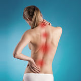 Боль в спине Стоковые Фото