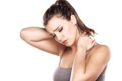 Боль в шее Стоковая Фотография RF