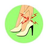 Боль пешком от носить высокие пятки бесплатная иллюстрация