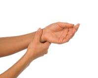 Боль руки Стоковое Изображение