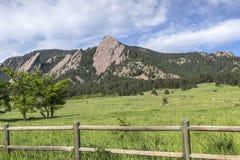 Больдэр Колорадо Flatirons Стоковые Изображения RF