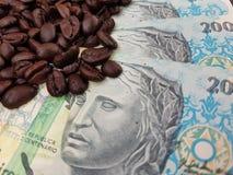 Бразилия мир самый большой производитель кофе на сверх 150 лет стоковые фото