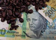 Бразилия мир самый большой производитель кофе на сверх 150 лет стоковое фото