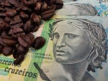 Бразилия мир самый большой производитель кофе на сверх 150 лет стоковая фотография