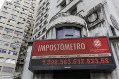 Бразилия - San Paolo - метр налога в улице boavista стоковые изображения