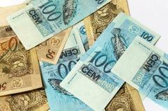 бразильская валюта Стоковое Изображение RF