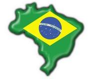 бразильская карта флага кнопки бесплатная иллюстрация