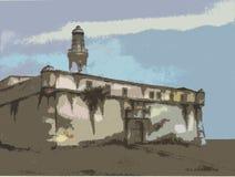 бразильская колониальная крепость 2 бесплатная иллюстрация