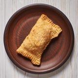 Бразильская пастель еды домодельно стоковые изображения rf