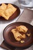 Бразильская пастель еды домодельно стоковое изображение rf