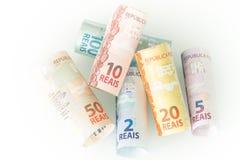 Бразильские деньги/reais/концепция дела Стоковая Фотография RF