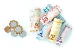 Бразильские деньги/reais Стоковые Фото