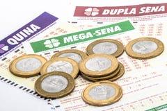 Бразильский билет лотереи стоковые фотографии rf