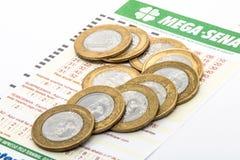 Бразильский билет лотереи стоковые изображения