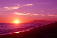 бразильский заход солнца Стоковая Фотография