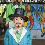 Бразильский костюм масленицы Стоковые Фото