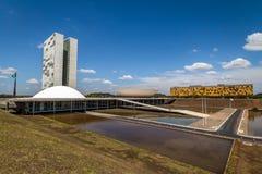 Бразильский национальный конгресс - Brasilia, Distrito федеральное, Бразилия стоковое изображение rf