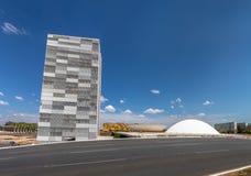 Бразильский национальный конгресс - Brasilia, Distrito федеральное, Бразилия стоковое фото