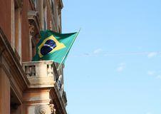 бразильский флаг Стоковое Фото