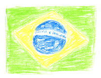 бразильский флаг Стоковые Изображения RF