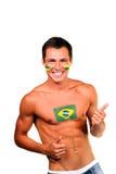 бразильский футбол вентилятора Стоковая Фотография