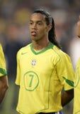 бразильское ronaldinho игрока стоковая фотография