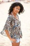 бразильянин красотки пляжа Стоковые Фотографии RF