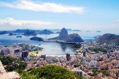 Бразилии de janeiro rio Общий вид города стоковое изображение rf