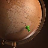 Бразилия отметила Стоковая Фотография