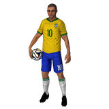 Бразилия - футболист стоковое фото