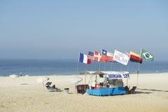 Бразильская лачуга Рио-де-Жанейро пляжа стоковые изображения