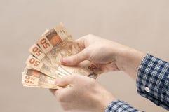 Бразильская валюта - реальная стоковые фото